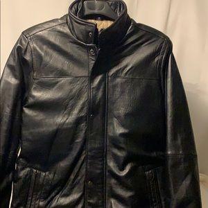 🆕 Chaps Ralph Lauren Leather coat Sz. Med.